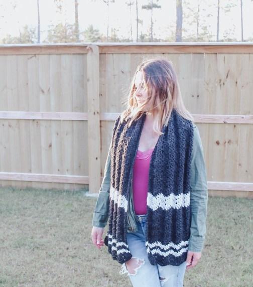 Twin Rivers crochet scarf
