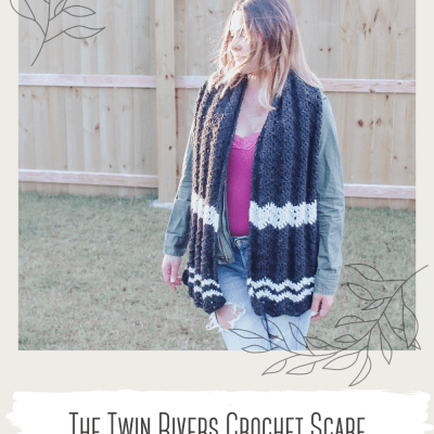 The Twin Rivers Crochet Scarf