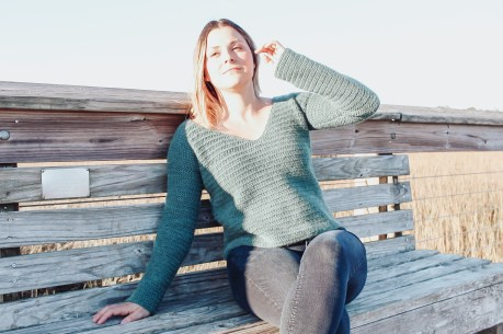 The Highlands free crochet sweater pattern