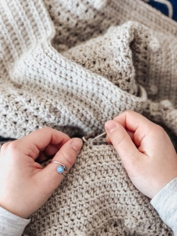 The Pebble Crochet Blanket WIP
