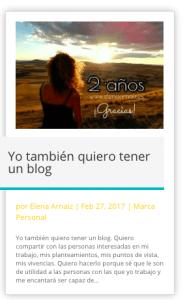 mantener un blog Elena Arnaiz