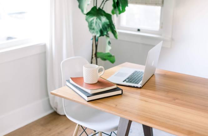 MacBook laptop on desk