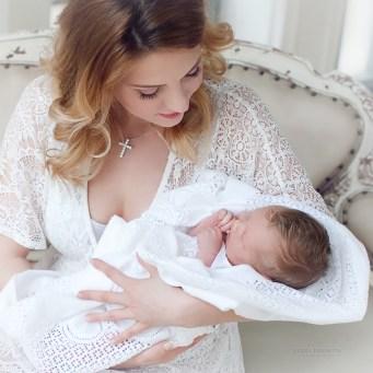 Семейная фотосессия с новорожденным