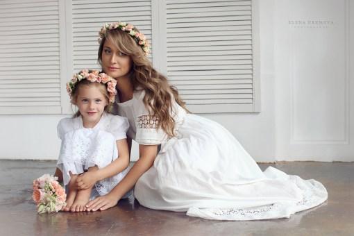 Фото мамы и ребенка в студии