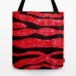 Zebra Print and Red Glitters