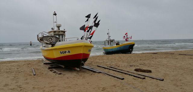 Сопот . Рыбацкие лодки.
