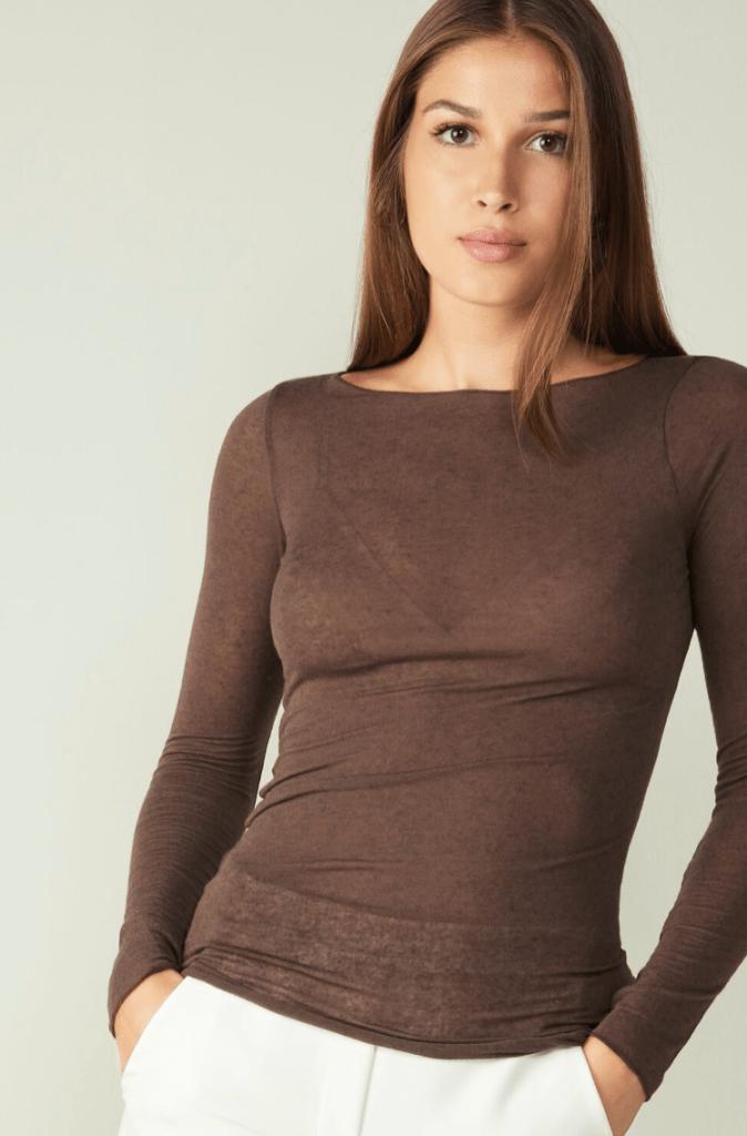 Maglia In Modal Cashmere Ultralight Con Scollo A Barca Di Intimissimi Elena Camponovo Zoppi Lifestyle Blog