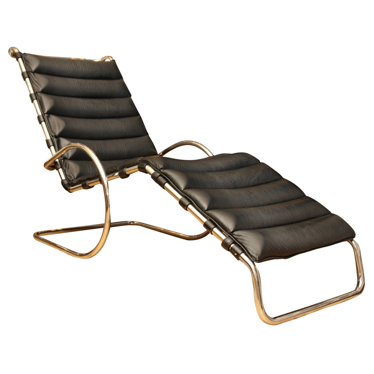 Ludwig Mies van der Rohe Adjustable MR Chaise Lounge for Knoll.