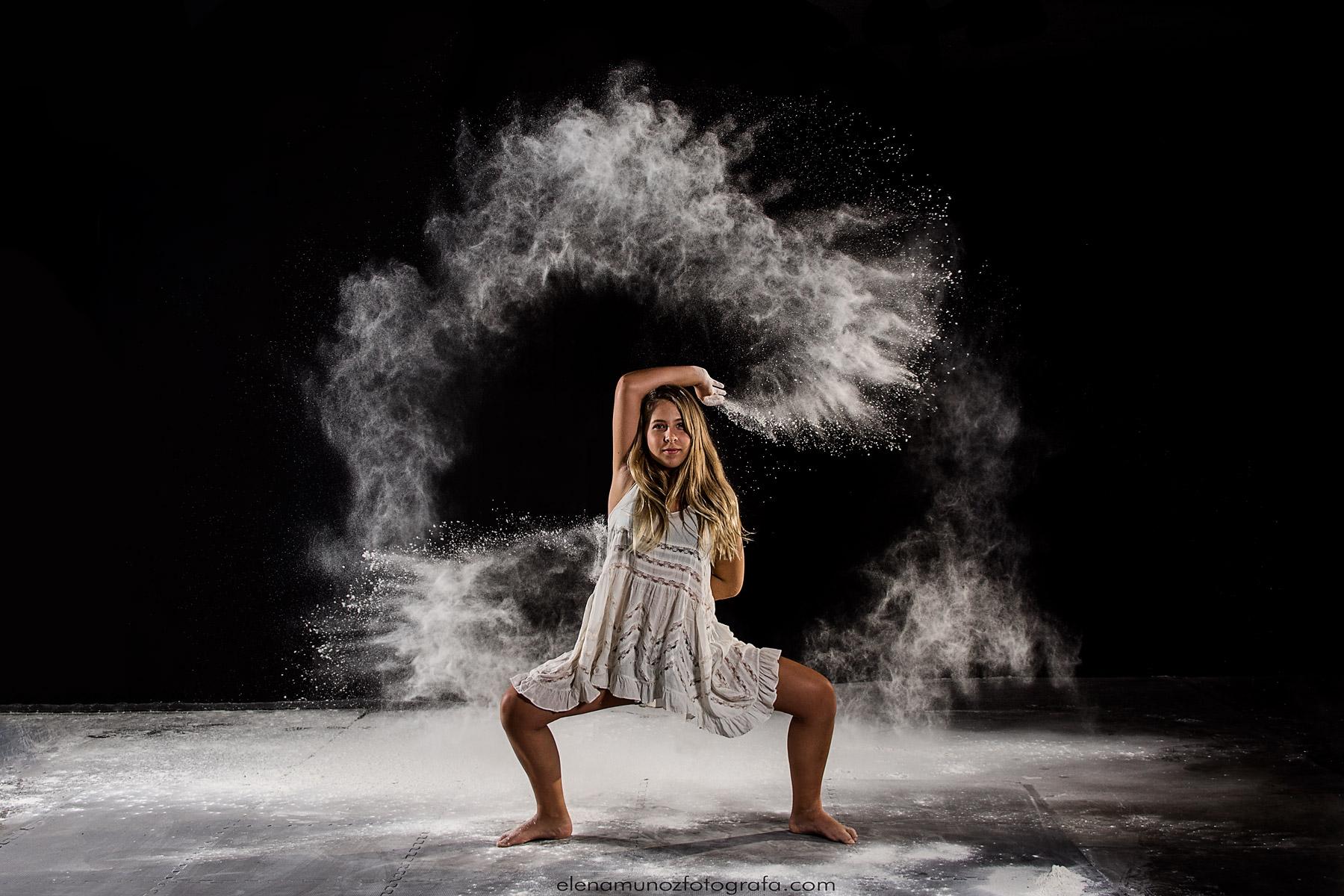 Flour dance photography.