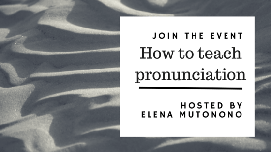 How to Teach Pronunciation: an upcoming event