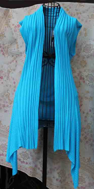 Long Turquoise Sweater Vest
