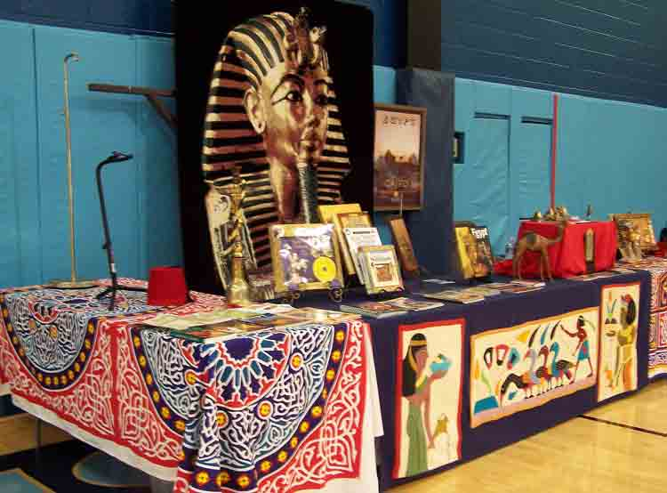 Another part of the display for Egypt.
