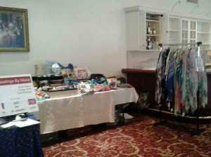 My booth at the BPW Fashion Show