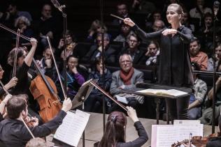 With the Orchestre des Lauréats du Conservatoire, final concert of the Talents Adami Chefs d'Orchestre 2016