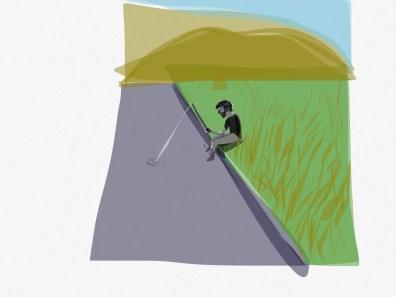 Carlitos pescando