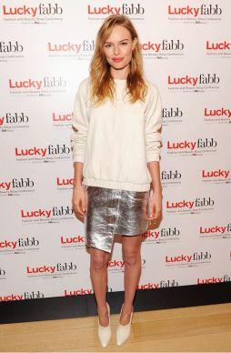 kate bosworth metallic skirt