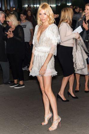 siena miller little white dress