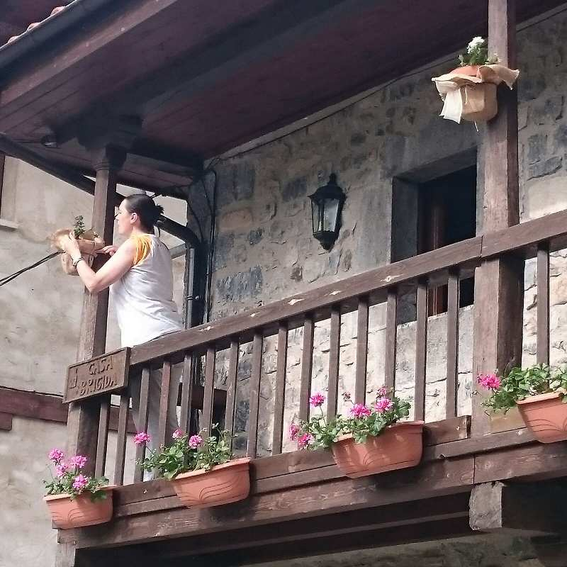 Balcon de Casa Brígida en los alojamientos rurales de El Encanto del Valleval - Soto de Sajambre - Picos de Europa (Leon)