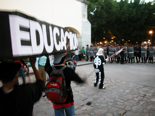No More Denied Students, No to Plan Juarez in Oaxaca
