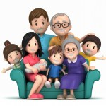 3d happy family 1 1 - Family Phrasal Verbs