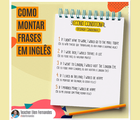 BLOG SECOND CONDITIONAL - Como montar frases - SECOND CONDITIONAL