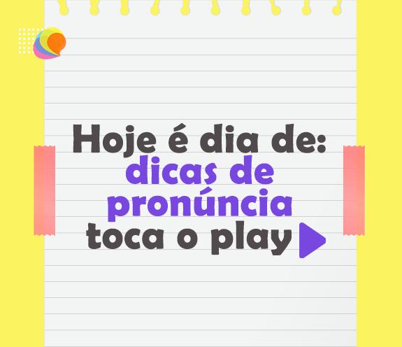 """BLOG DICA DE PRONUNCIA 01 - Dicas de pronúncia: Palavras com """"TH e GH""""."""