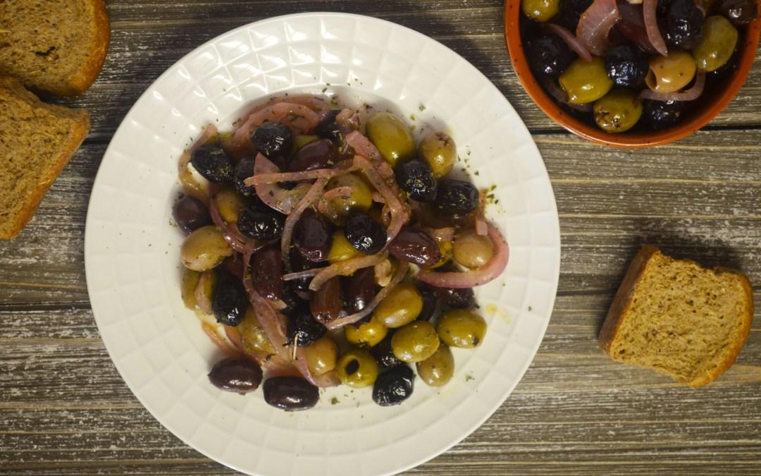 Pan-fried olives