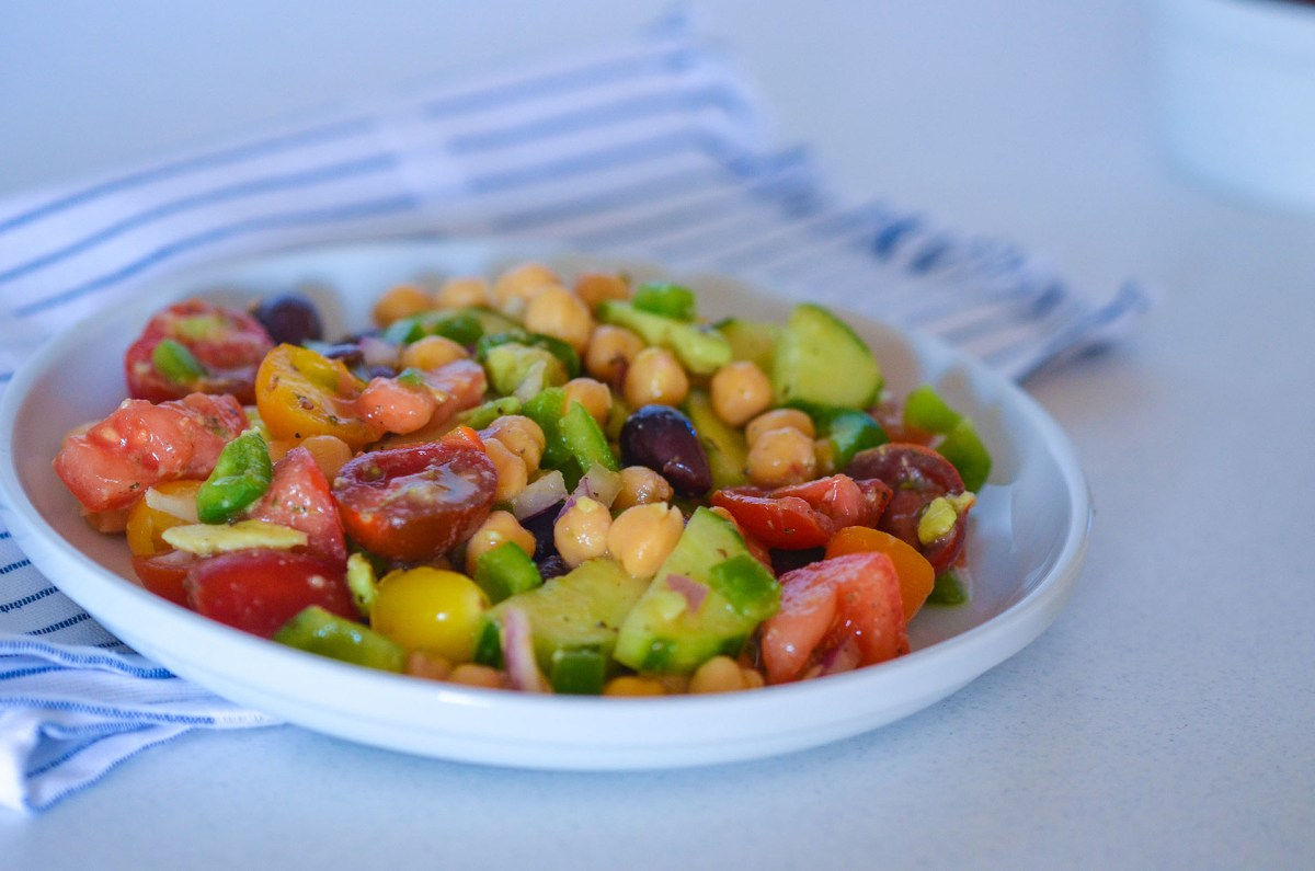Garbanzo Bean Greek Salad