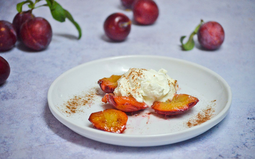 Caramelized Plums with Yogurt