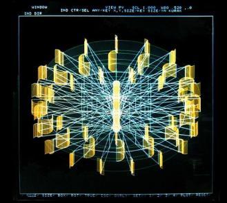 Áurea. 1989. Duratrams en caja de luz. 100,5 cm x 100,5 cm x 17,5 cm