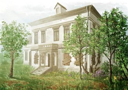 Finsterland - Haus mit Garten