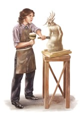 Finsterland - Bildhauerin