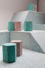 Brutalist playground rendered in foam | product design, geometric, color, industrial, concept - pinterest.com