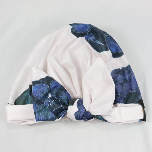 flowery shower cap