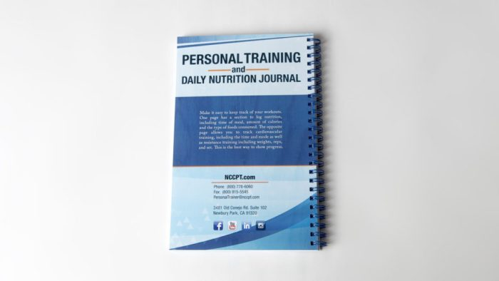 Training log back cover