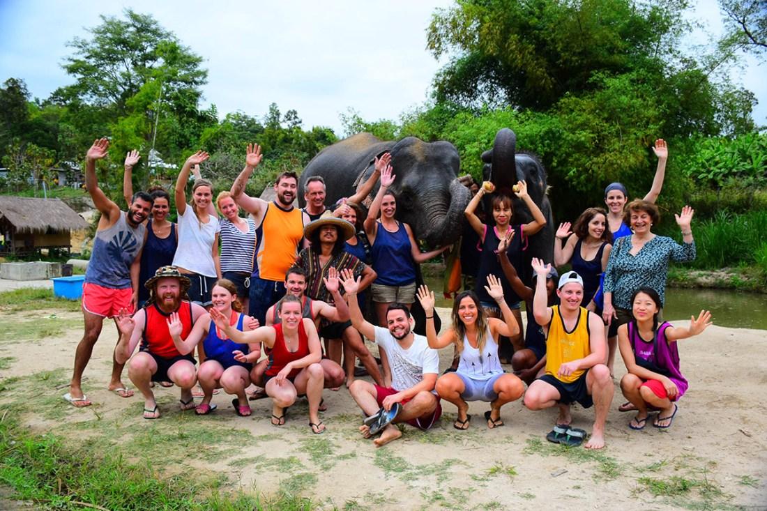 Corporate Team Building Elephant Care Program