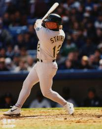 From 1996-1999, Matt Stairs established himself as a powerful home run threat in the middle of the A's order, peaking with a 38 homer season in '99. Stairs hit 122 homers and posted a 125 OPS+ over his five seasons with the A's.