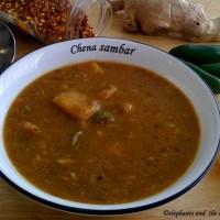 Nadan chena sambar / Yam sambar /Suran sambar