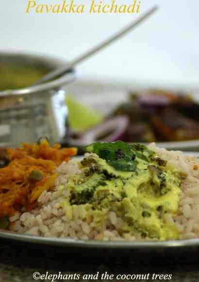 Thumbnail for Pavakka kichadi / Bittergourd in Yogurt / Nadan pavakka kichadi / Kerala recipe