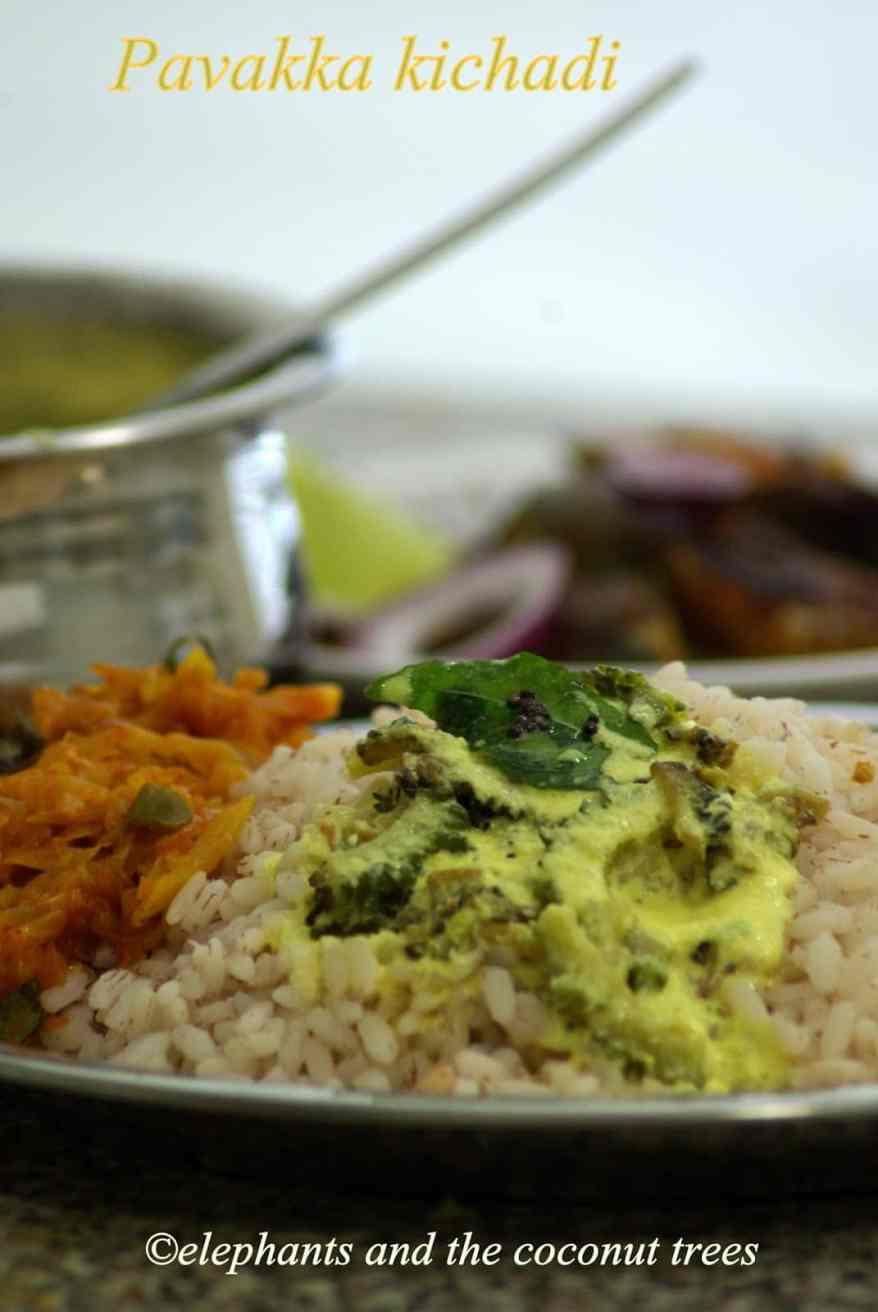 Pavakka kichadi / Bittergourd in Yogurt / Nadan pavakka kichadi / Kerala recipe. Kerala Sadhya recipes