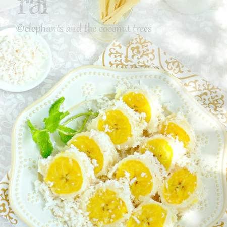 Pisang Rai is Steamed plantain with coconut from Balinese Cuisine