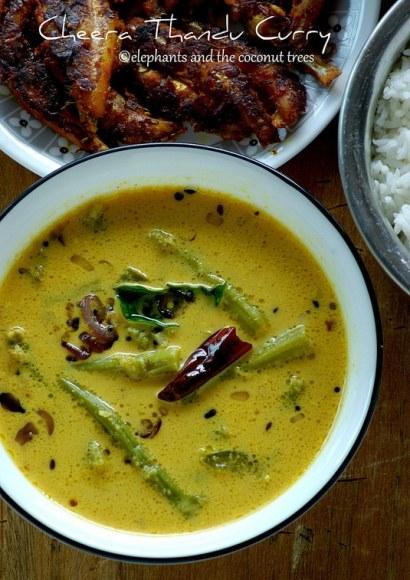 Thumbnail for Cheera thandu curry / Amaranth Stem Curry