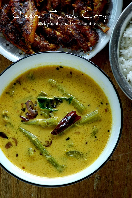 Cheera thandu curry / Amaranth Stem Curry