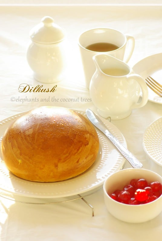 Dilkush / Sweet Bun filled with Coconut and Dry fruits