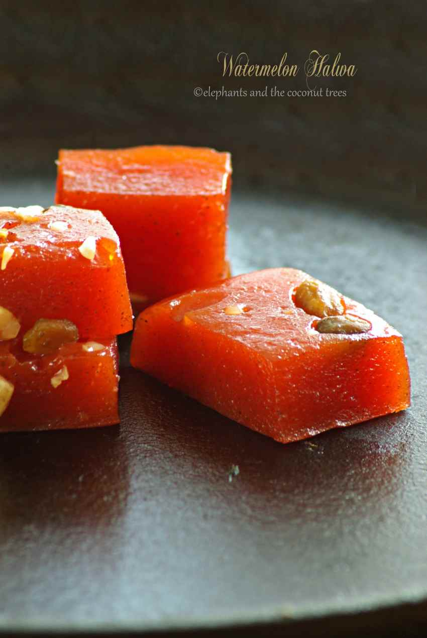 watermelon halwa-No artificial colors,Indian sweets for all occasions