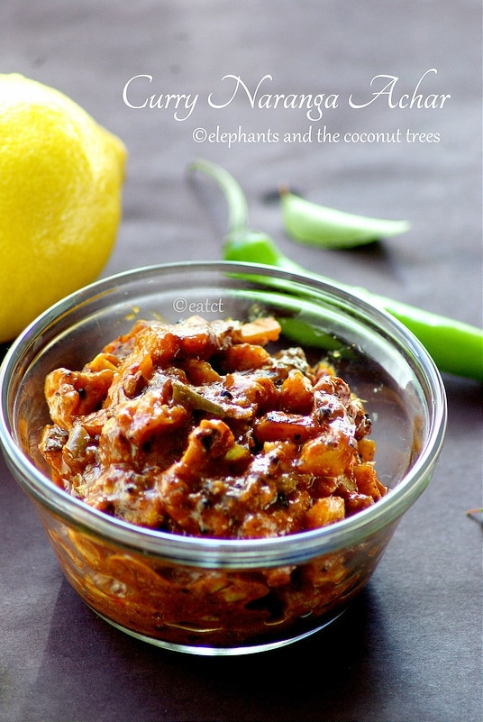 Naranga Curry / Vadugapuli Naranga achar / Lemon pickle - Kerala sadhya recipes