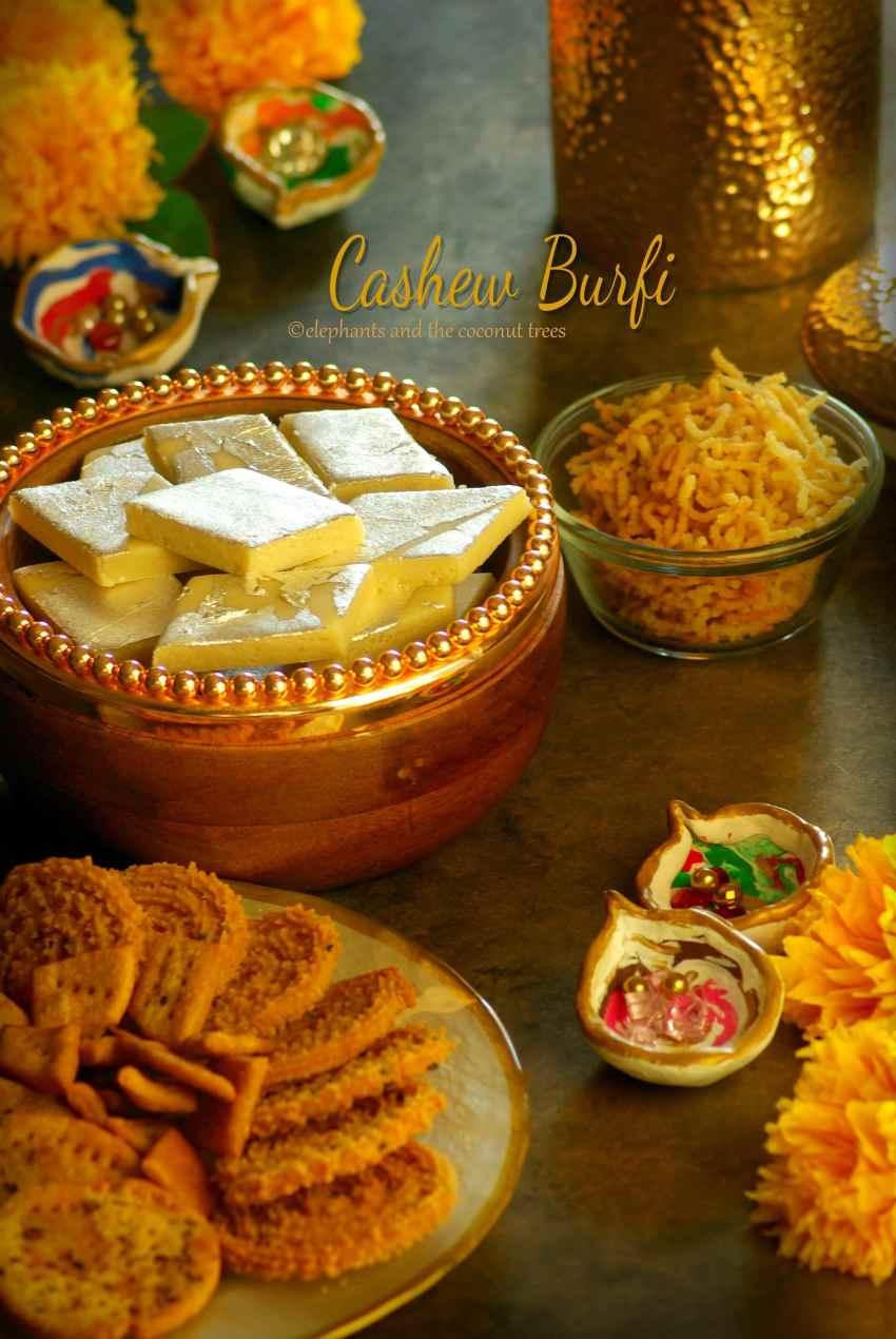 cashew nut burfi / kaju katli,Easy Diwali sweets