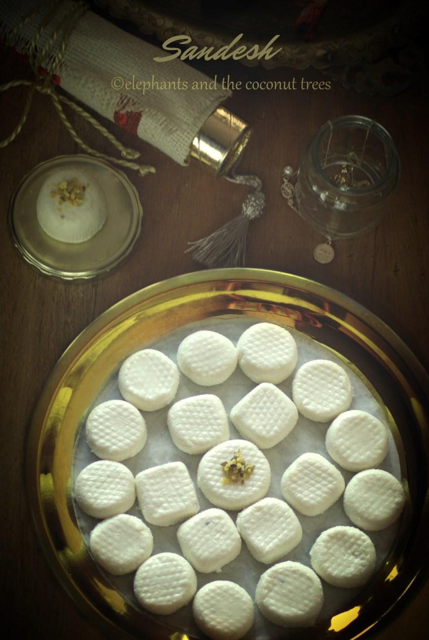 sandesh / fresh cheese dessert / Kacha golla ,Easy Diwali sweets