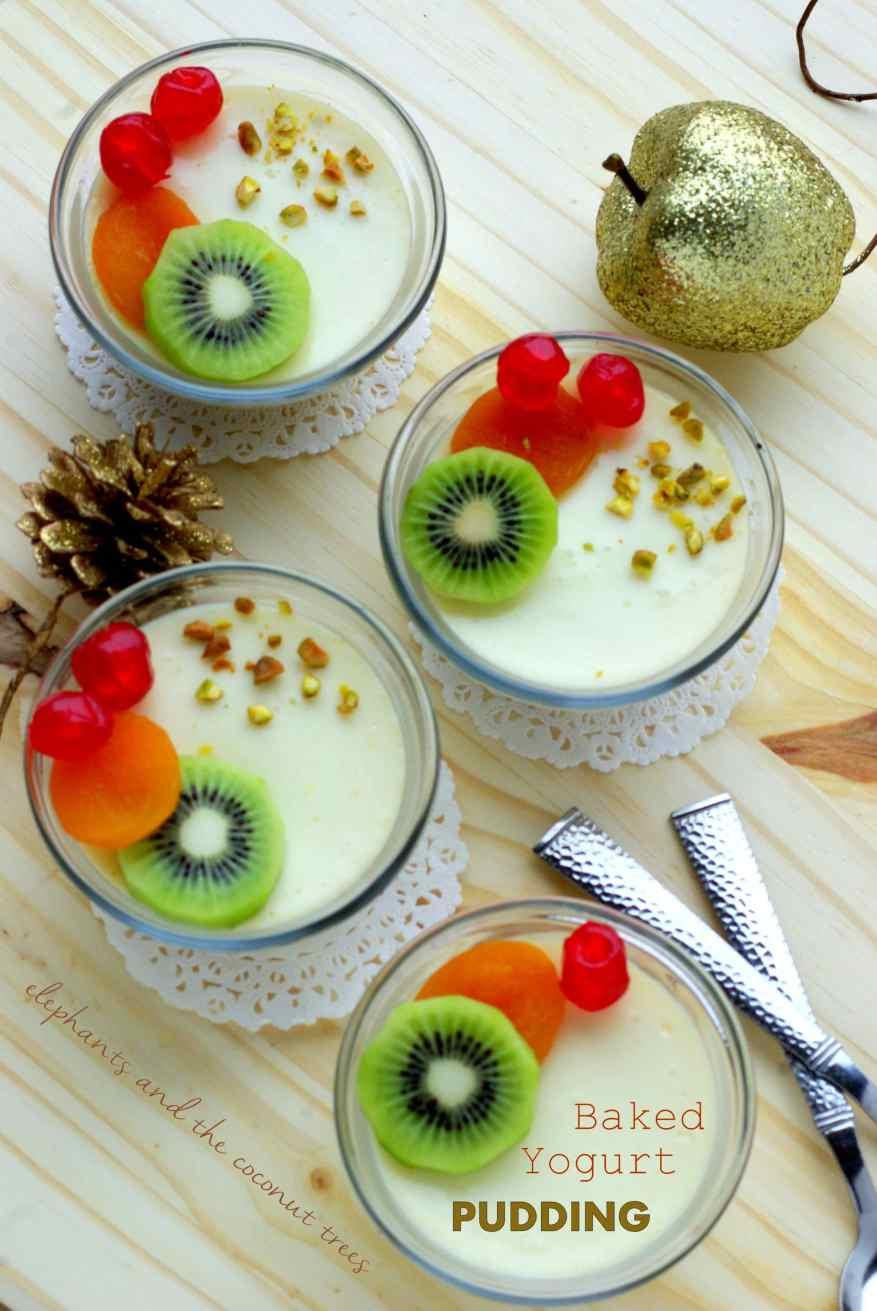 Bhapa doi / Baked yogurt pudding