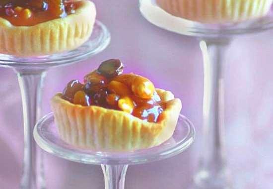 dry fruit caramel tart